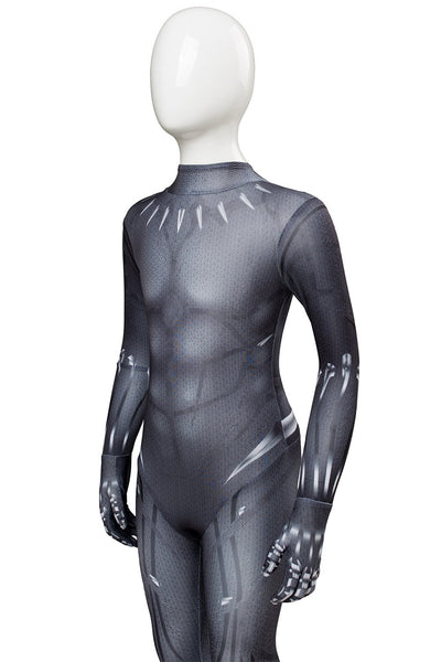 Avengers: Infinity War Black Panther T'Challa Outfit Jumpsuit For Kids