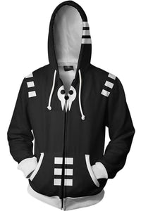 Soul Eater Merchandies Hoodie 3D Zip Up Sweatshirt Unisex