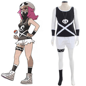 Pokemon Sun and Moon Team Skull Grunts Cosplay Costume Female