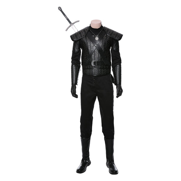 Movie The Witcher Cavill Geralt of Rivia Outfit Cosplay Costume