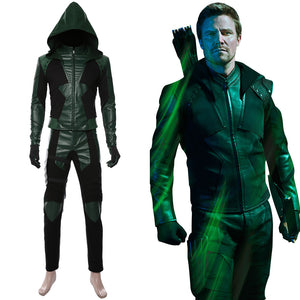 Green Arrow Season 8 Oliver Queen Suit Cosplay Costume