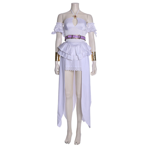 Cautious Hero: The Hero Is Overpowered but Overly Cautious Goddess Lisita Dress Costume Cosplay
