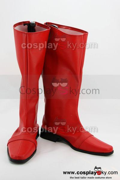 Power Ranger Cosplay Shoes Boots Custom Made Red