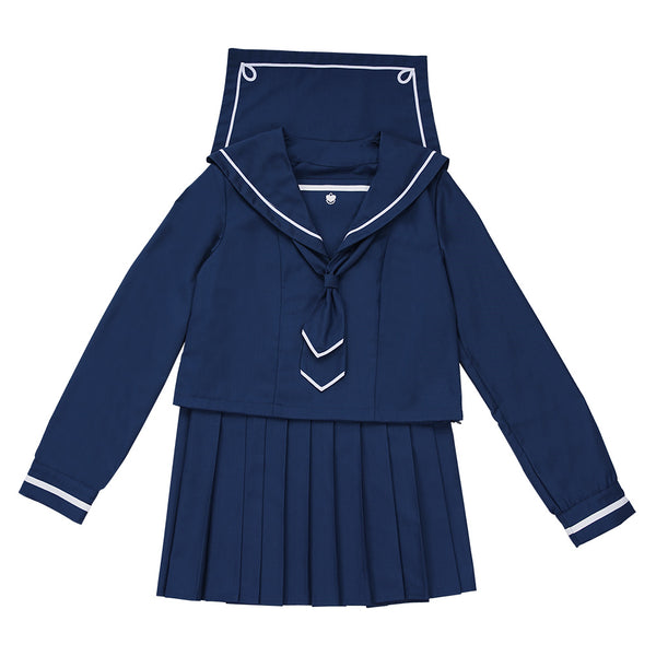 Houkago Teibou Nisshi/Diary of Our Days at the Breakwater Hina Tsurugi JK Uniform Sailor Suit Cosplay Costume