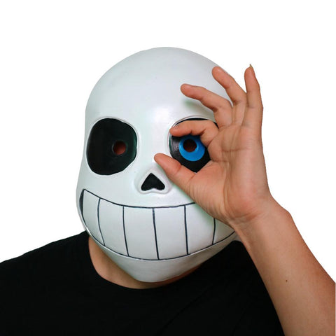 Boys Undertale Sans Cosplay Mask Kids Halloween Mask Latex