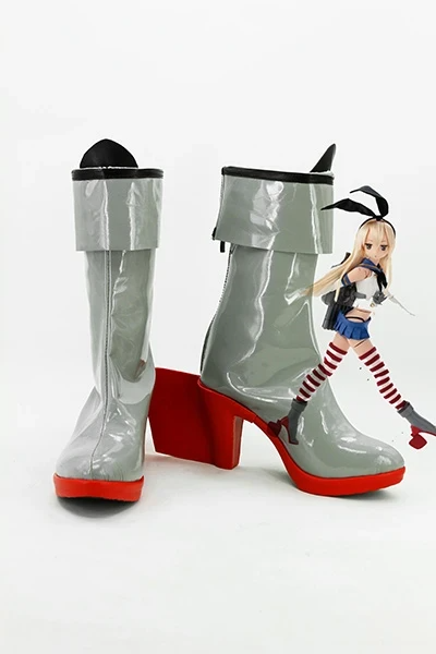 Kantai Collection KanColle Japanese Destroyer Shimakaze Cosplay Boots Shoes