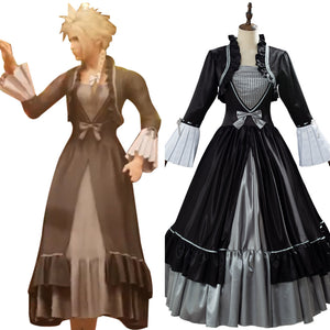 Cloud Strife Final Fantasy VII Remake Game Women Outfit Cosplay Costume