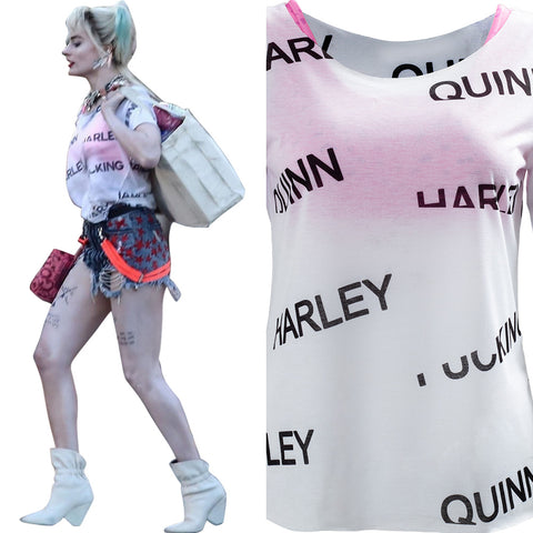 Birds of Prey Harley Quinn Underwear T-shirt Cosplay Costume