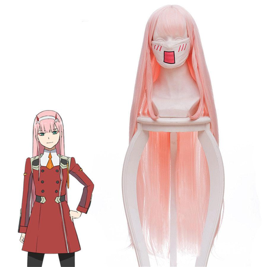 DARLING in the FRANXX Zero Two 02 Cosplay Wig long pink