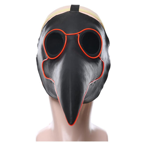 Plague Doctor Halloween Medieval Doctor Schnabel Glowing Latex Mask