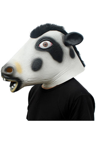Cow Head Masks Animal Latex Masks  Full Face Mask Halloween Adult Cosplay Props