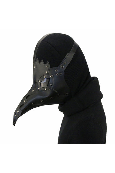 The Plague Doctor Black Bird Beak Black Mask Halloween Cosplay Props