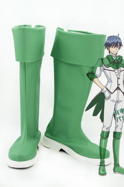 Cute High Earth Defense Club LOVE! Defense Club Atsushi Kinugawa Light Green Boots Cosplay Shoes
