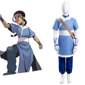 Avatar: the last Airbender Halloween Carnival Suit Katara Cosplay Costume for Kids Children
