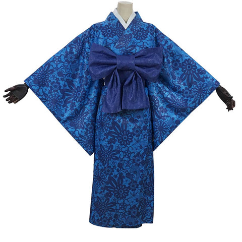 Demon Slayer Halloween Carnival Costume Hashibira Inosuke Cosplay Costume Women Kimono Outfits