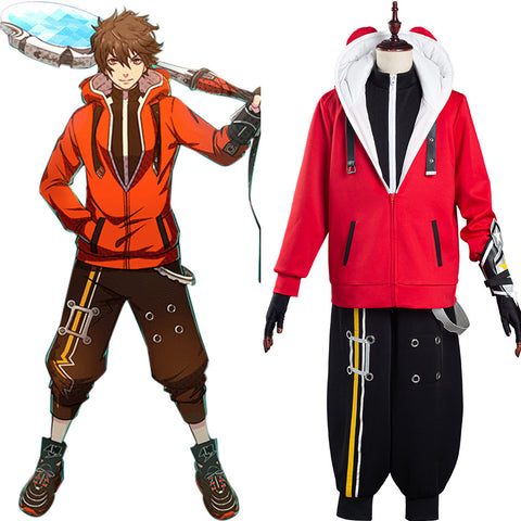 Game STAR SMASH Halloween Carnival Suit Yu Red Braves Cosplay Costume Coat Pants Outfit