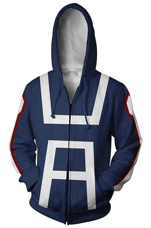 My Hero Academia Boku no Hero School Training Uniform Zip Up Hoodie Unisex