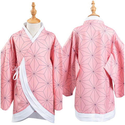 Demon Slayer: Kimetsu no Yaiba Kids Children Kimono Coat Kamado Nezuko Cosplay Costume