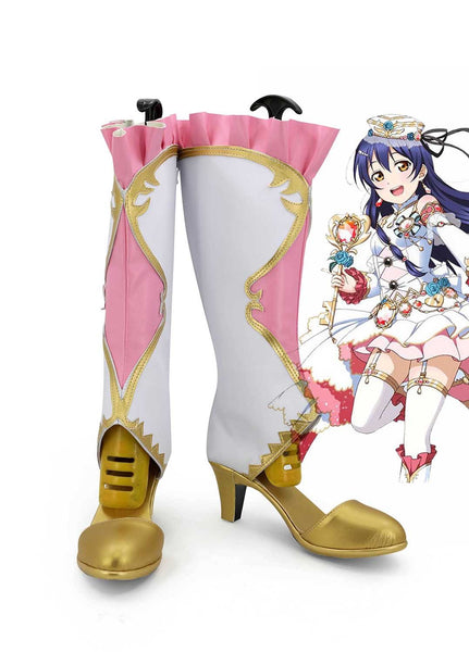 LoveLive! Umi Sonoda Birthstone Boots Cosplay Shoes