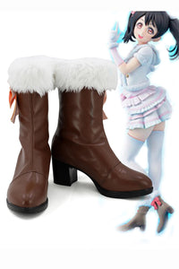 Love Live! School idol project Season 2 Snow-Halation Nico Yazawa Boots Cosplay Shoes