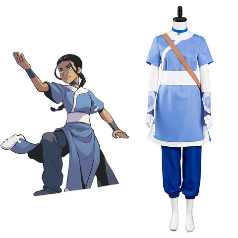Avatar: the last Airbender Halloween Carnival Suit Katara Cosplay Costume