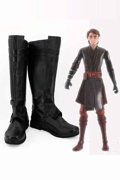 Star Wars Anakin Skywalker Black Boots Cosplay Shoes