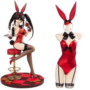 Anime Date A Bullet Bunny Girl Jumpsuit Outfits Tokisaki Kurumi Cosplay Costume Halloween Carnival Costume