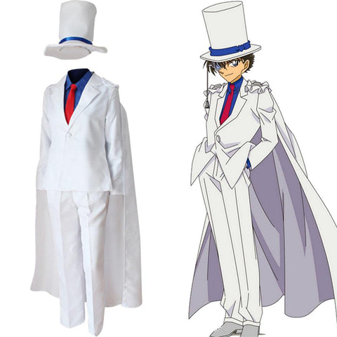 Detective Conan Kid The Phantom Thief Magic Kaito Kuroba Kaito Uniform Cosplay Costume