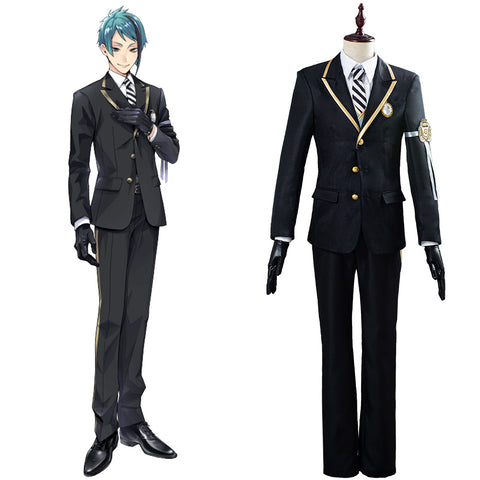 Twisted-Wonderland Azul/Floyd/Jade Uniform Outfit Cosplay Costume Halloween Carnival Costume