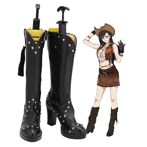 Final Fantasy VII Remake Tifa Lockhart Boots Cosplay Shoes Halloween Costumes Accessory