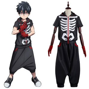 Anime Kemono Jihen Halloween Carnival Suit Kabane Kusaka Cosplay Costume Top Pants Outfits