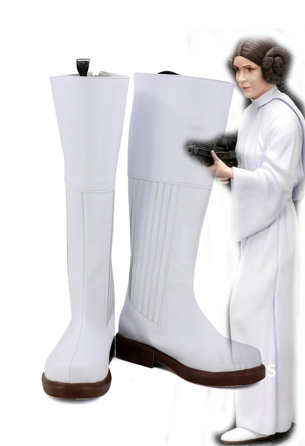 Star Wars Pricess Leia Cosplay Shoes Boots White