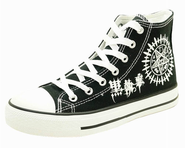 Black Butler Contract Sign Black Sneakers Cosplay Shoes