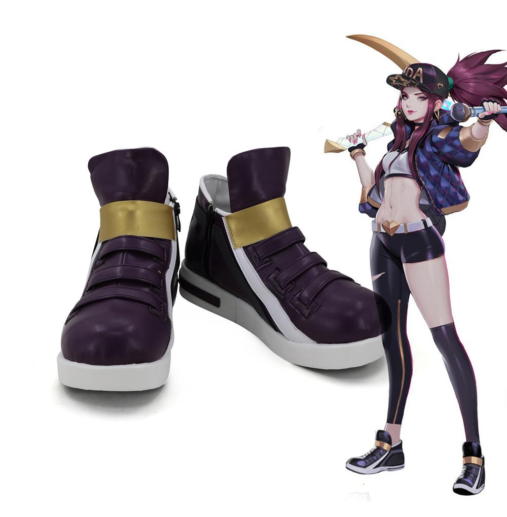 League of Legends The Rogue Assassin Akali K/DA Skin Cosplay Shoes Boots