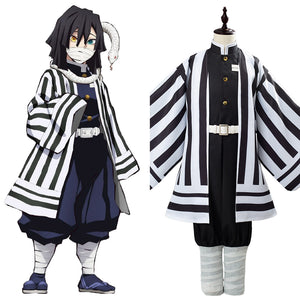 Iguro Obanai Anime Demon Slayer Kimetsu no Yaiba Cosplay Costume Kids Children Uniform Outfit