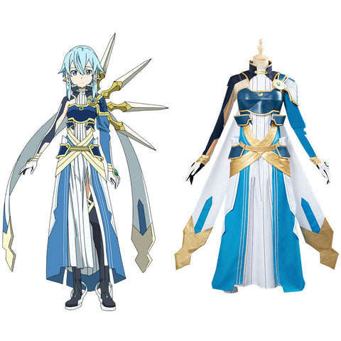 Sword Art Online SAO Halloween Uniform Asada Shino Cosplay Costume Custom Made