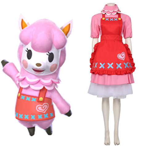 Animal Crossing Reece Cosplay Costume Halloween Carnival Costume
