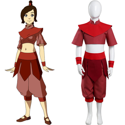 Avatar: The Last Airbender Halloween Carnival Suit Ty Lee Cosplay Costume Kids Childern Top Pants Outfits