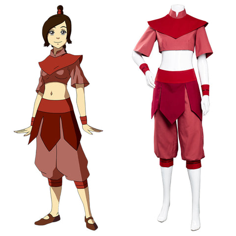 Avatar: The Last Airbender Halloween Carnival Suit Ty Lee Cosplay Costume Jumpsuit Outfit