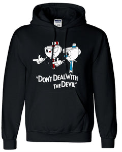Cup Head Don't Deal with the Devil Hoodie Black Jacket  Coat