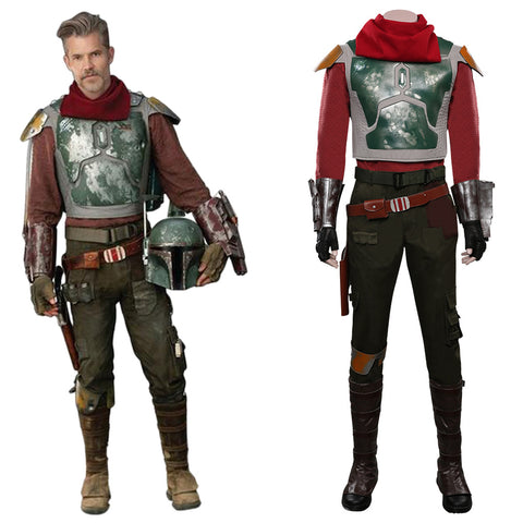 The Mandalorian S2 Halloween Carnival Suit Cobb Vanth Cosplay Costume Top Pants Outfits