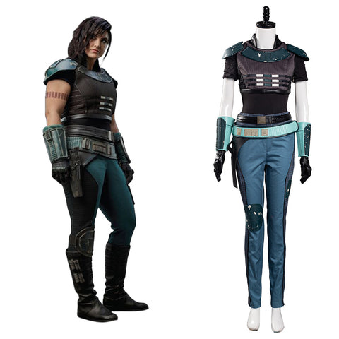 Mandalorian Halloween Carnival Suit Cara Dune Cosplay Costume Women Uniform Outfit