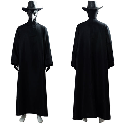 Plague Doctor Bird Beak Mask Halloween Long Robe Outfit Steampunk Cosplay Costume