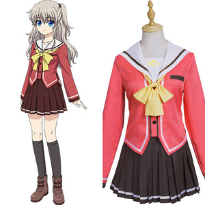 Charlotte Halloween Carnival Costume Tomori Nao/Yusa Nishimori Cosplay Costume Women Girls School Uniform Dress Outfits