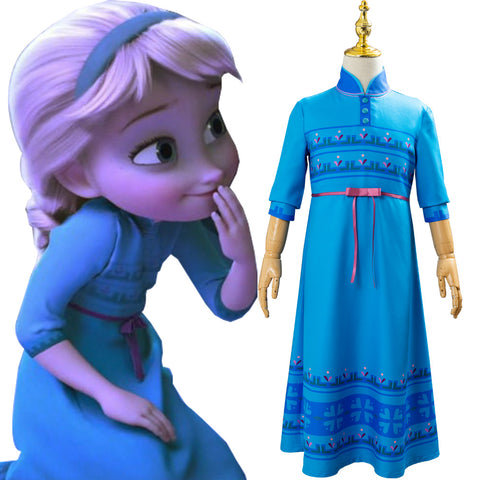 Frozen 2 Princess Elsa Kids Fancy Dress Up Girls Cosplay Costume