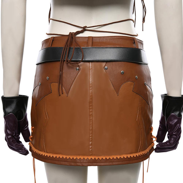 Final Fantasy VII Remake The Cowboy Suit Tifa Lockhart Cosplay Costume Halloween Carnival Costume