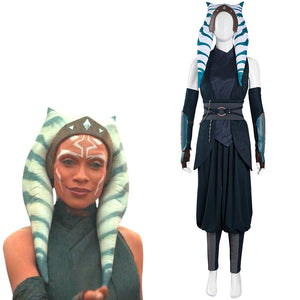 The Mandalorian S2 Halloween Carnival Suit Ahsoka Tano Cosplay Costume Top Pants Outfits