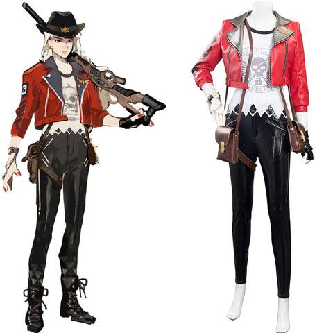 OW OverWatch Halloween Carnival Suit Deadlock Ashe Cosplay Costumes Outfits