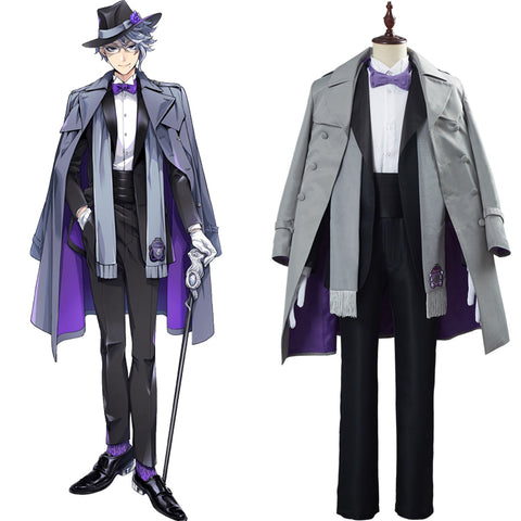 Game Twisted Wonderland Azul Ashengrotto Adult Uniform Outfit Halloween Carnival Suit Cosplay Costume