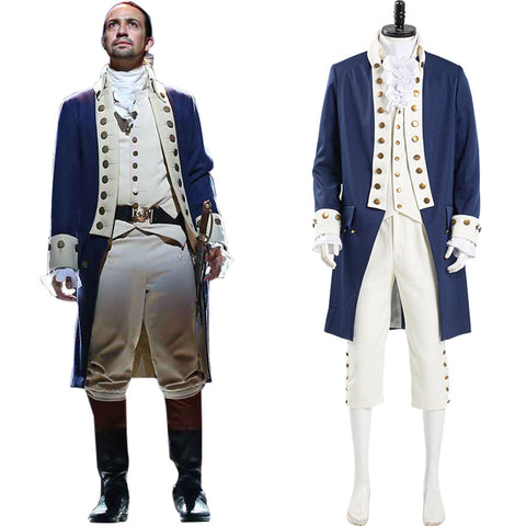 Musical Hamilton Halloween Carnival Suit Alexander Hamilton Cosplay Costume Men Uniform Outfit